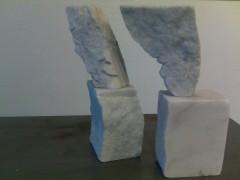 bernard lefort,conversation,michel cand,sculpture